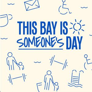 This Bay is Someone's Day logo surrounded by icons of people going about their day.